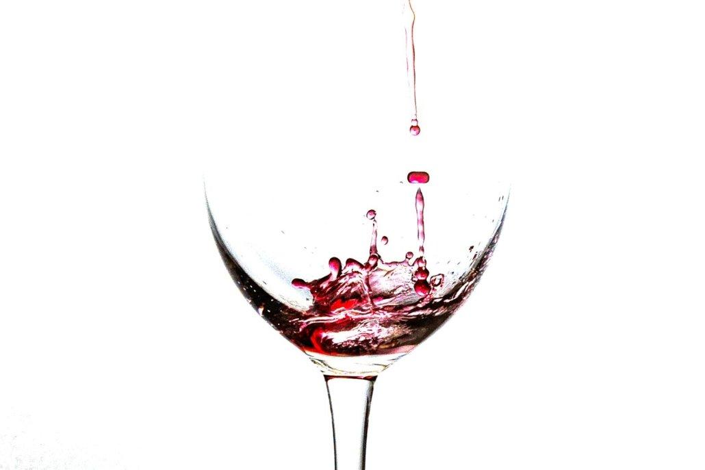 Weinglas Rotwein Objekt Fotografie