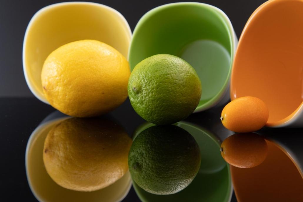 Limette Zitrone Objekt Fotografie